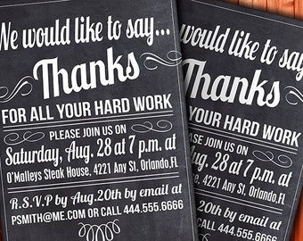 Custom Thank You Invitation - Business Function or Party Invitation - Fully Customizable - You Print It- 5x7 or 4x6