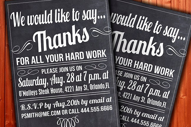 Custom thank you invitation business function or party zoom stopboris Choice Image