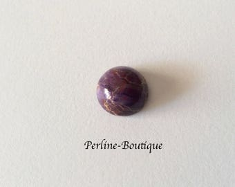 Cabochon 12mm purple Jasper round