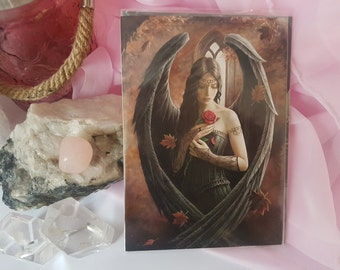 Anne Stokes Gothic Black Angel Greeting Card - A5 - Free Postage