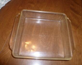 """Vintage 8"""" Square Pyrex baking Dish"""
