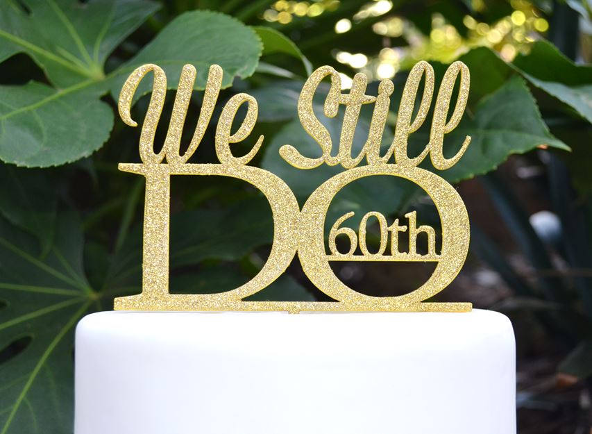We still do th wedding anniversary cake topper assorted colours