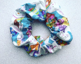 Bunny scrunchie/Easter scrunchie/easter hair elastic/bunny hair tie/animal scrunchie/children's scrunchie