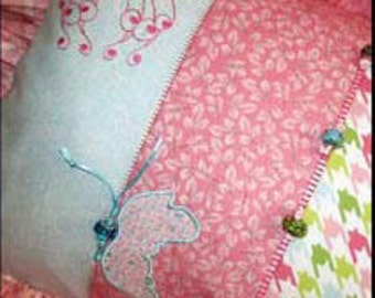 Butterfly Pillow pattern - Serge-Broidery (Serger + Embroidery)