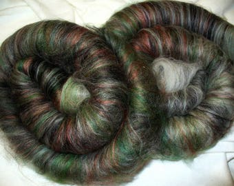 Wool Mix Rolag Coils for Hand Spinning or Felting
