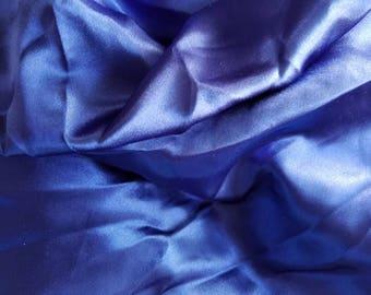 Royal Blue Shiny Satin Fabric Yardage