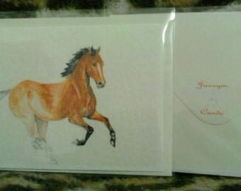 Equine Art greetings card