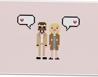Richie & Margot - The *Original* Pixel People In Love - PDF Cross-stitch Pattern - INSTANT DOWNLOAD