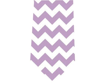 Boy's Tie Lavender Chevron Child's Necktie