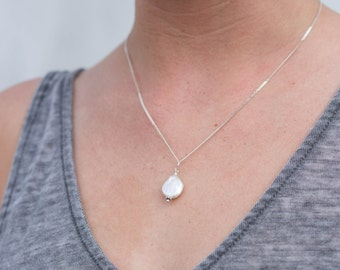 Pearl Necklace, Freshwater Pearl Necklace, Bridesmaid Necklace, Bridesmaid Jewelry, Dainty Necklace, Stones by Grace