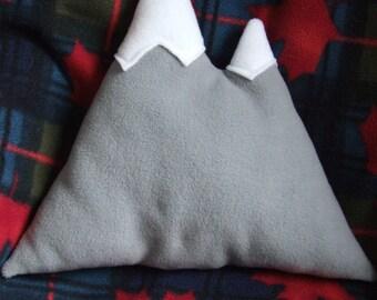 Mountain Pillow - Mountain Cushion - Fleece Mountain Pillow - Nature Nursery Decor