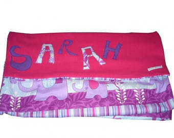 baby girl blanket - > 6 letters - custom