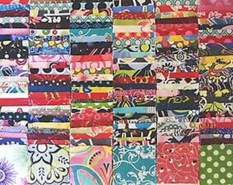 "200 Assorted  pre cut charm pack 2.5"" squares 100% cotton fabric quilt scrap"