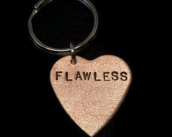 Flawless Keychain, Bow Down Bitches, I Woke Up Like This, Triangle Key Ring, Queen Bey, Heart Keychain, Best Friend Gift, Stamped Jewelry