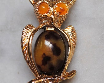 Vintage Gerrys Jelly Belly Owl Pin - SALE