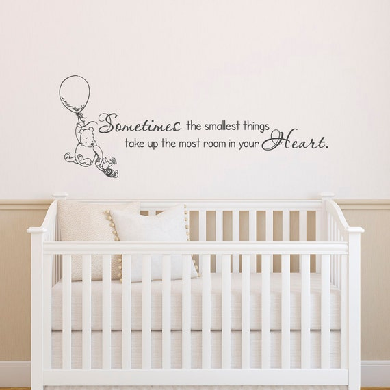 Classic winnie the pooh wall decals quotes sometimes the for Classic pooh wall mural