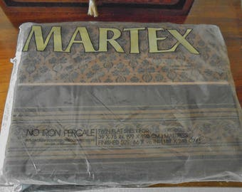 Vintage Martex Percale Twin Flat Sheets - Memento