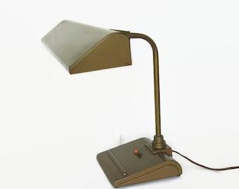 Mid Century Industrial Desk Lamp, Retro Art Specialty Light Sightmaster,  Vintage Office Light,
