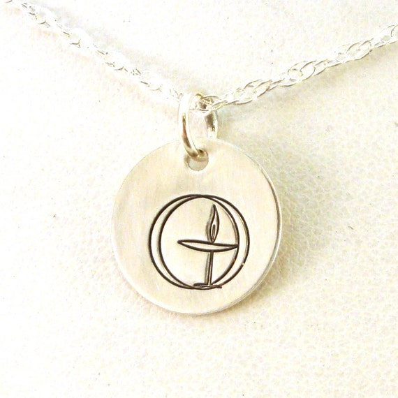 Traditional uu chalice necklace sterling silver uu chalice aloadofball Gallery