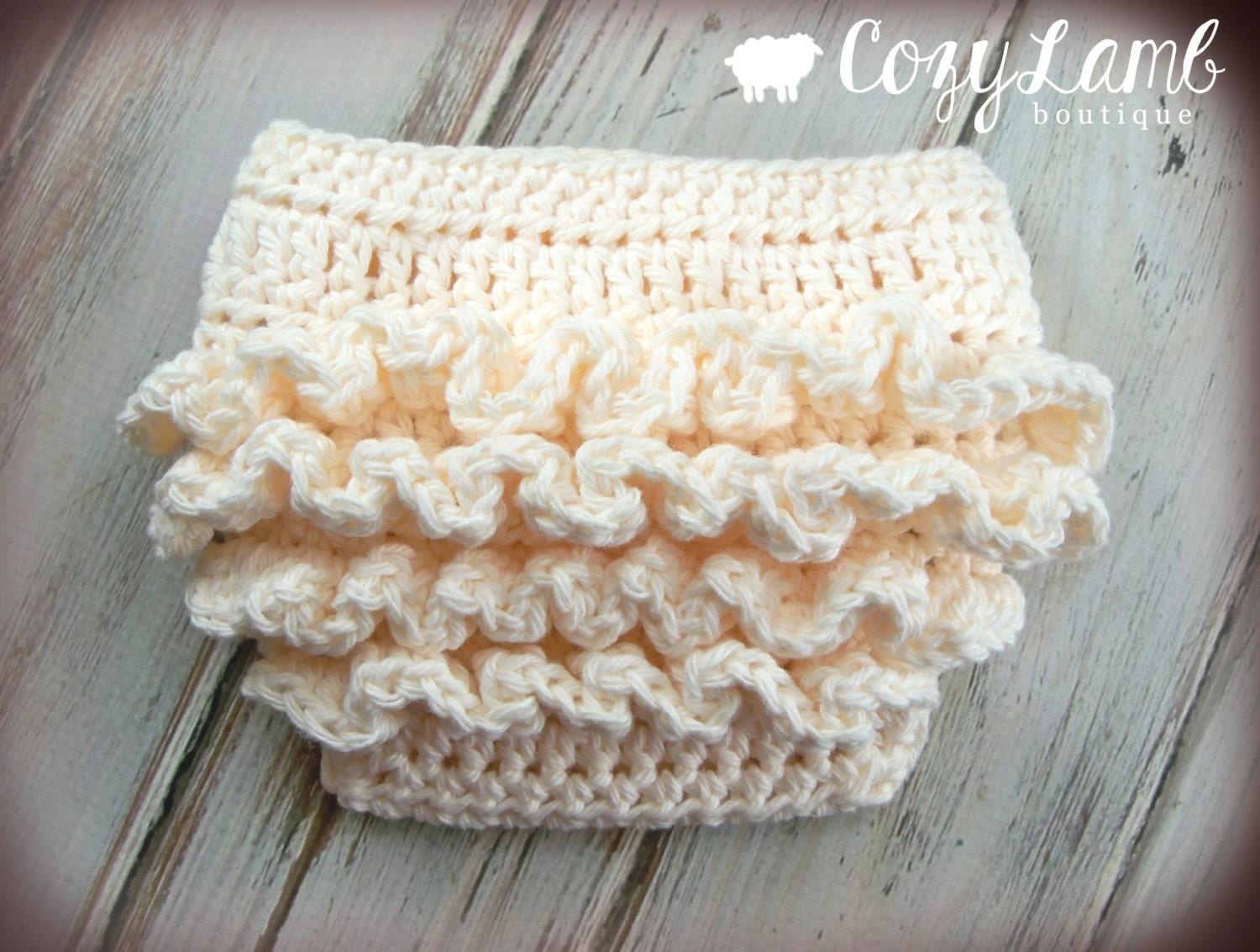 Crochet Pattern for Ruffle Bum Baby Diaper Cover - 3 sizes, Newborn ...