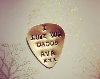 Dad gift, fathers day gift idea, first fathers day, dad gift idea, boyfriend gift idea, retro gift, Guitar pick, personalised plectrum, love