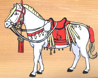 Japanese Wood Plaque - Shrine Plaque -  EMA - Isonokami Shrine in Nara - Year of Horse (E10-26)