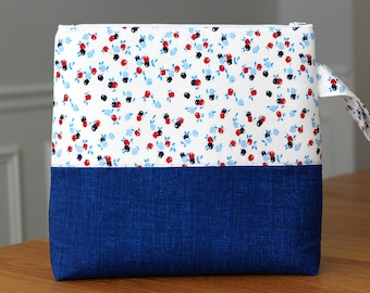 Project Bag for Knitting and Crochet, Craft Storage Tote, How 'Bout Them Apples