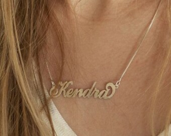 Name Necklace, Monogram Necklace, Silver Name Necklace, Gold Name Necklace, Rose Gold Name Necklace, Custom Necklace, Personalized Necklace