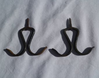 Victorian wardrobe hooks, set of 2