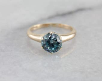 Stunning Blue Zircon Solitaire Ring, Ostby and Barton Ring 9YCUYA-P
