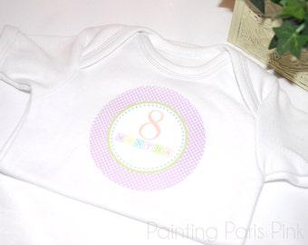 Shabby Blocks Belly Babe Milestone Baby Stickers | 1st Year | BONUS Just Born Set included | FREE SHIPPING