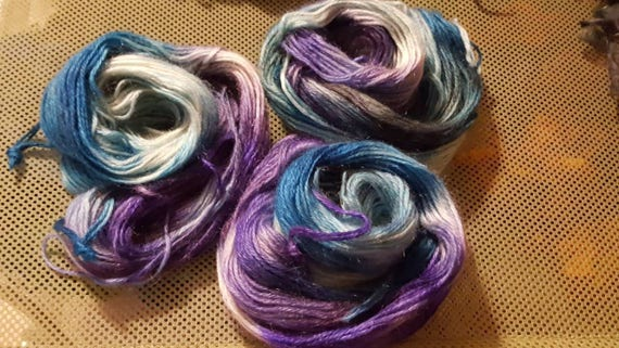 What The Fish Saw - Luxurious Hand Dyed 60/40 Mohair/Silk Yarn. 50g, 96 yds per skein.