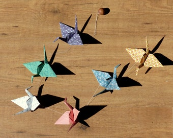 Garland origami - cranes 6
