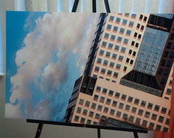 "Christmas Special - Surreal Pittsburgh Photo, HDR photograph, Blue and tan, 20x30"" Aluminum Metal photography print, Scideways"