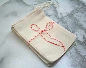 Cloth favor bags, 4x6, set of 25 unprinted natural cotton drawstring bags, party favor bags, gift bags, muslin favor bags, product packaging