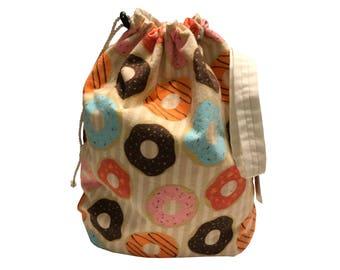 Mmm...Donuts Project Bag Stuff Sack medium size
