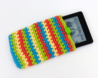 Kindle  Case, Neon Chevron Kindle  Cover, Stocking Stuffer, Bright Red, Yellow, Green, Blue