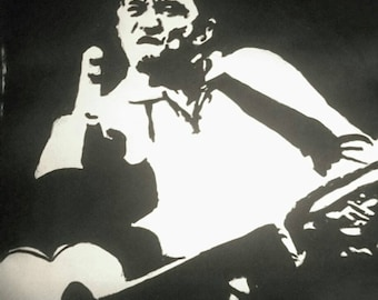 Painting of Johnny Cash