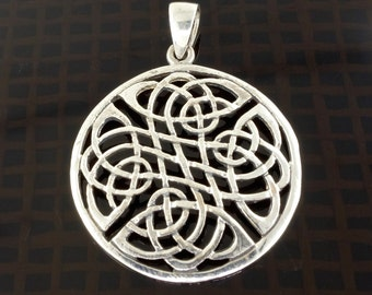 Sterling Silver Celtic Knotwork Pendant