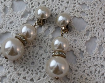 Luscious Faux Pearl Clip-on Earrings