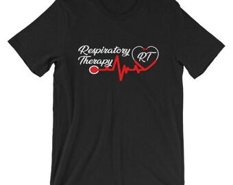 Respiratory Therapy Stethoscope RT Unisex T Shirt for RRT Respiratory Therapist Gift