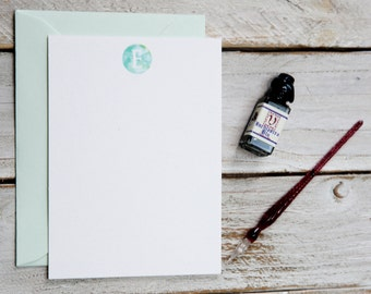Personalized stationery set, watercolor note cards, personalized note cards, personalized stationary, monogram note cards, notecards