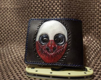 Handmade  Wolf wallet natural leather stylished by PayDay 2