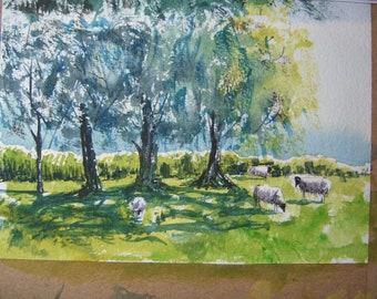Fowlers farm plein air study no. 2