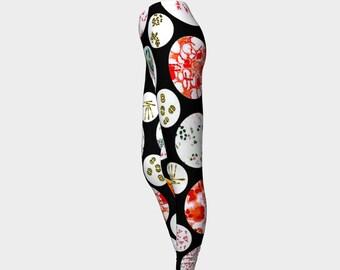 Petri Pants Leggings    Wearable Art- Women-Teen- Pants -Clothing-Clothes- Hand Sewn- Exercise  XS S M L XL