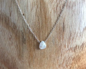 Pearls of Life- Sterling Silver Tiny Freshwater Pearl Necklace