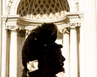 Rome 5 - Centurian silhouette - Travel Photography - Wall Décor - Nature Photography