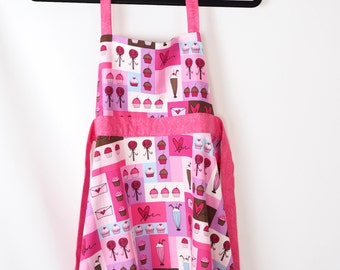 Cupcakes, Shakes, and Lollipops Children's Apron