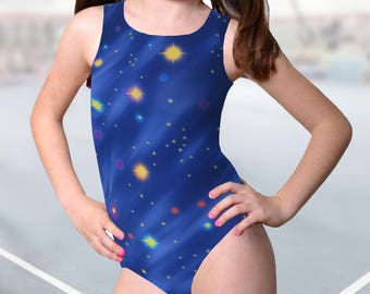 Gymnastics Leotard Girls - Outer Space design - New leo - 11 sizes available