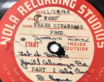 Amazing Frank Sinatra  Very Rare, Private recordings made for Radio  - You Will Always Be The One I Love , Let is Snow.The House I Live In